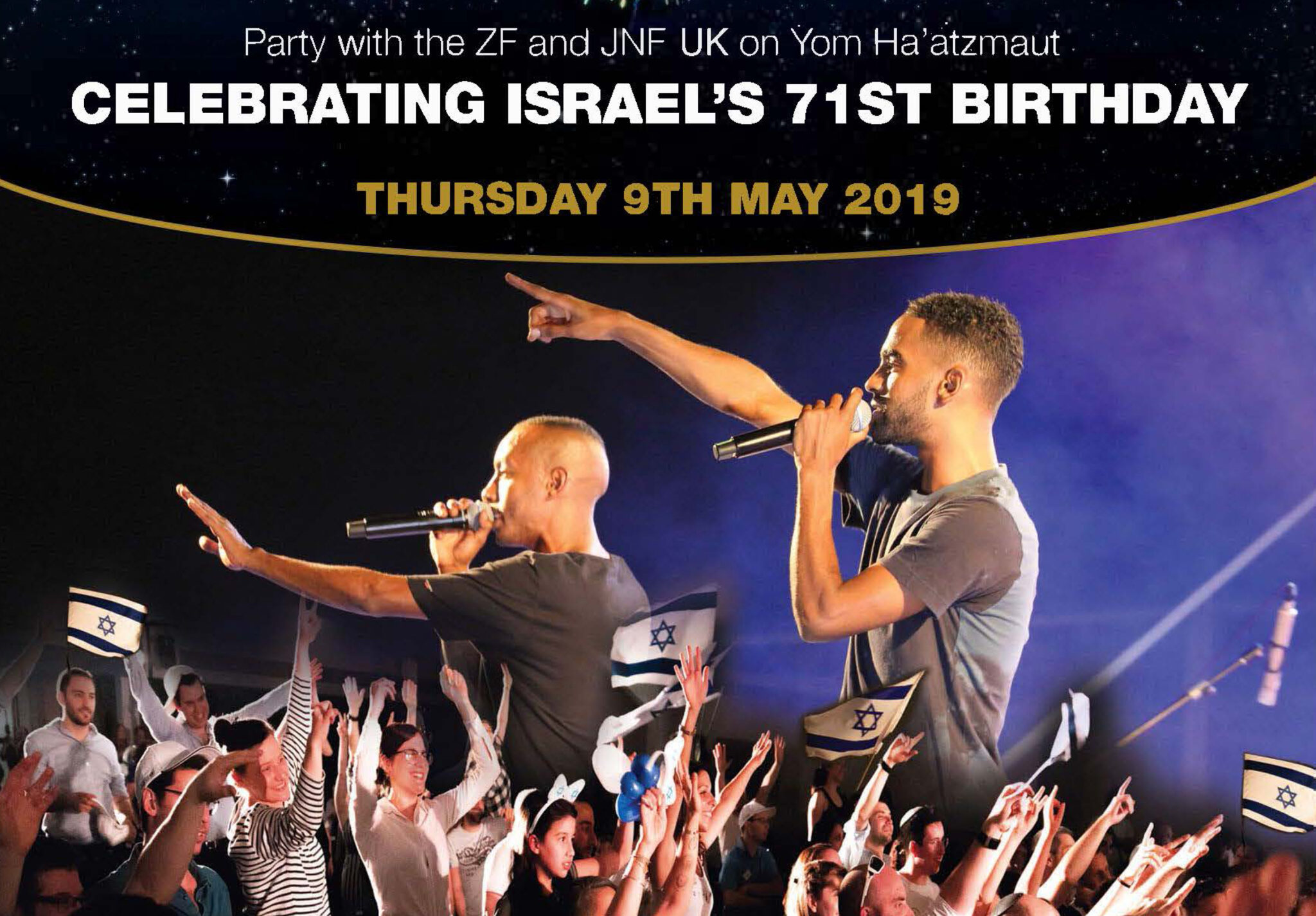 Party with the ZF and JNF UK on Yom Ha'atzmaut