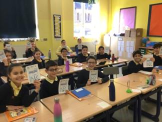 Y6 pupils taking part in online quiz with twin Israel school